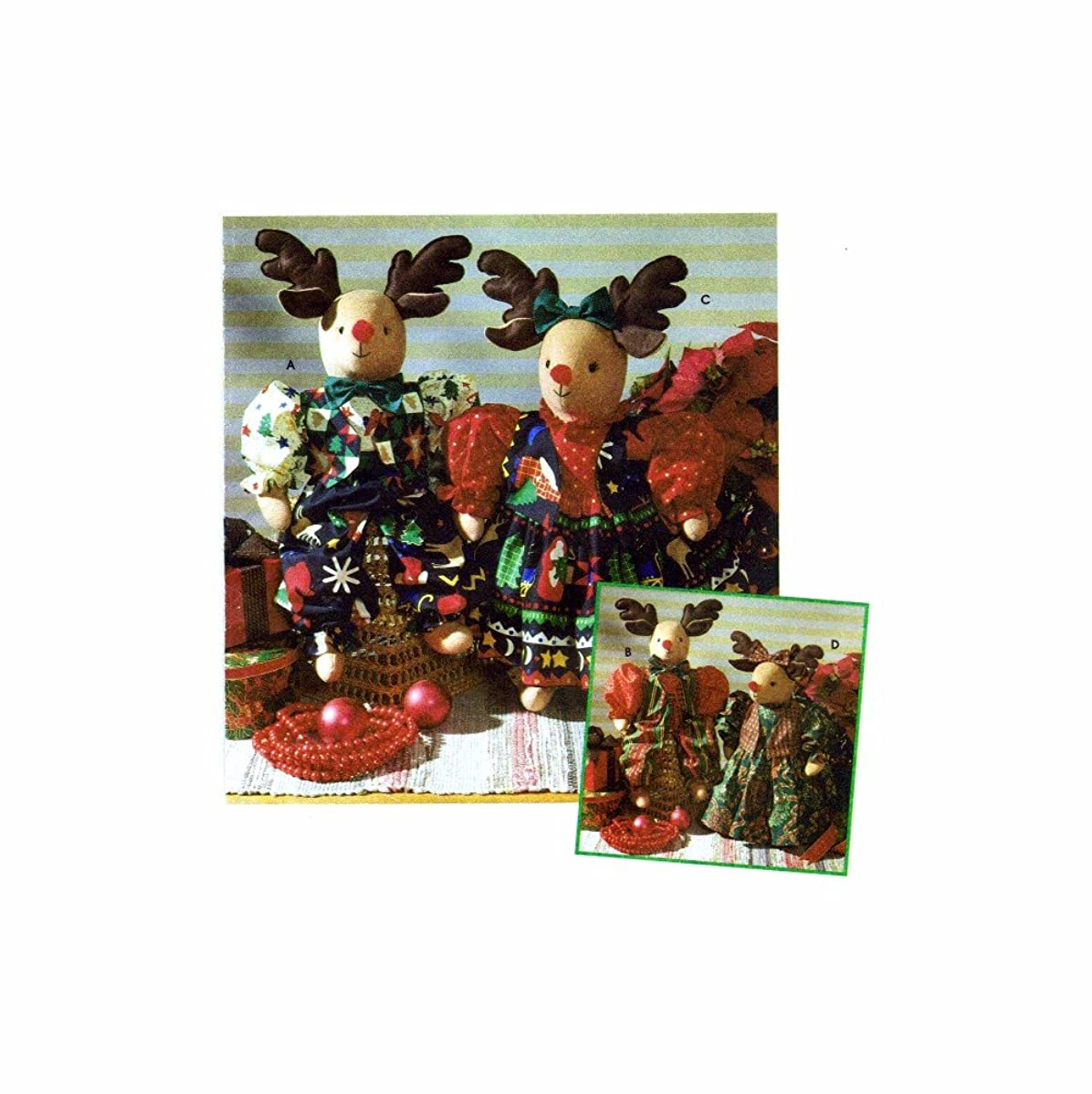 Simplicity Holiday Pattern Collection 7893 22-Inch Stuffed Reindeer and Clothes