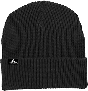 Joe`s USA Koloa Surf Heavyweight Watch Hat Knit Ribbed Beanie Cap in 4 Colors