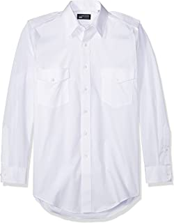 Van Heusen Men's Pilot Dress Shirt Long Sleeve Commander
