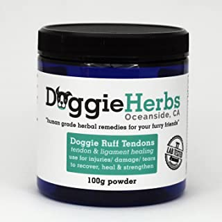 Doggie Herbs Dog Ligament and Tendon Healing Human Grade Dog – Canine Health and All Natural Tendon and Ligament Supplemen...