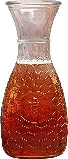 Circleware Garden Gate Honey Bee, 1 Liter Glass Water Drink Pitcher Carafe