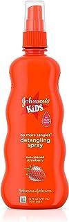 Johnson's Kids No More Tangles Hair Detangling Spray Strawberry Sensation, 10 Fl. Oz.