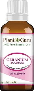 Geranium Bourbon Essential Oil 1 oz / 30 ml 100% Pure Undiluted Therapeutic Grade.