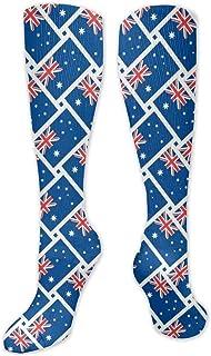 MISS-YAN, Australia Flag Wee - Calcetines para hombre y mujer, divertidos y locos