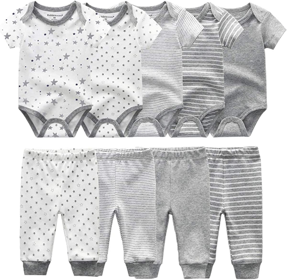 Kiddiezoom Unisex Newborn Baby Los Angeles Mall Layett Bodysuit National products Short-Sleeve