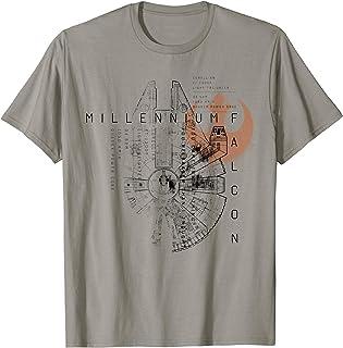 Star Wars Millennium Falcon Schematic T-Shirt