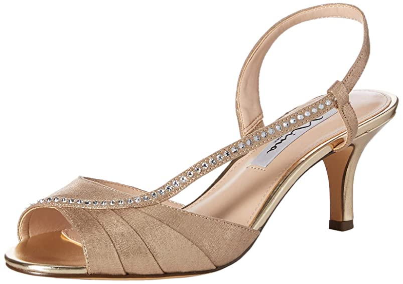 NINA Women's Cabell Heeled Sandal, Taupe, 10 M US kppganre748396