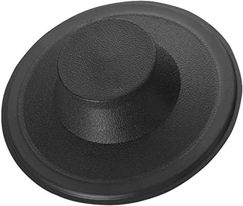 Essential Values Sink Stopper (#STP-PL) - Black Plastic Sink Drain Stopper - Replacement Garbage Disposal Drain Stopp...