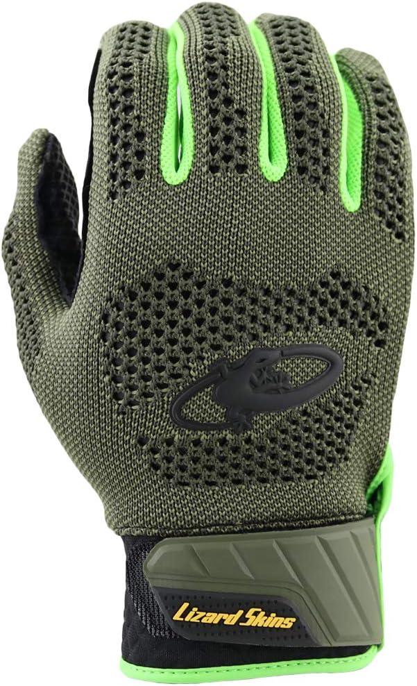 Genuine Sheepskin Leather Palm Articulated Design Lizard Skins Pro Knit V2 Player Issue Adult Batting Gloves