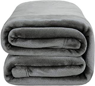 Bedsure Flannel Fleece Throw Blanket 350GSM - Super Soft Warm Thick All Season Blanket for Couch Sofa Bed Traveling - Reve...