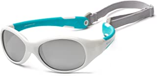 Koolsun Flex Sunglasses for 0-3 Years Baby, White Aqua (FLWA000)