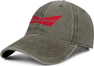 Unisex Cowboy Hat Budweiser-Logo- Sun Cap Mens' Women Mesh Cap