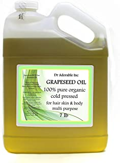 7 Lb/One Gallon Organic Grapeseed Oil