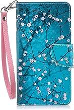 Nokia 6 2018 Case, Nokia 6.1 Case, JanCalm [Wrist Strap] [Kickstand] [Card/Cash Slots] Pattern Premium PU Leather Wallet Cell Phone Cases Flip Cover for Nokia 6.1 (2018) + Crystal pen (Plum blossom)