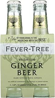 Fever Tree Premium Ginger Beer Soda, 6.8 Fluid Ounce - 4 per pack -- 6 packs per case.