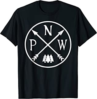 Distressed Pacific North West Mountain Shirt Camper Camping
