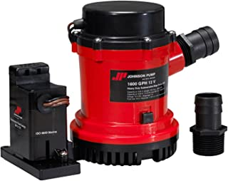 Johnson Pumps 01604-00 1600 GPH Heavy Duty Automatic Bilge Pump with Electromagnetic Switch, 12V