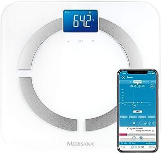 Medisana BS 430 Connect, Bilancia Digitale per Analisi Corporea 180 Kg, Bilancia Personale per La Misurazione del Grasso C...