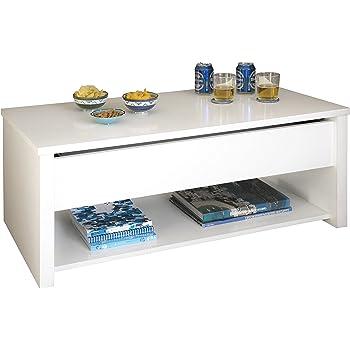 Abitti Mesa de Centro elevable, Color Blanco para Comedor o Salon ...
