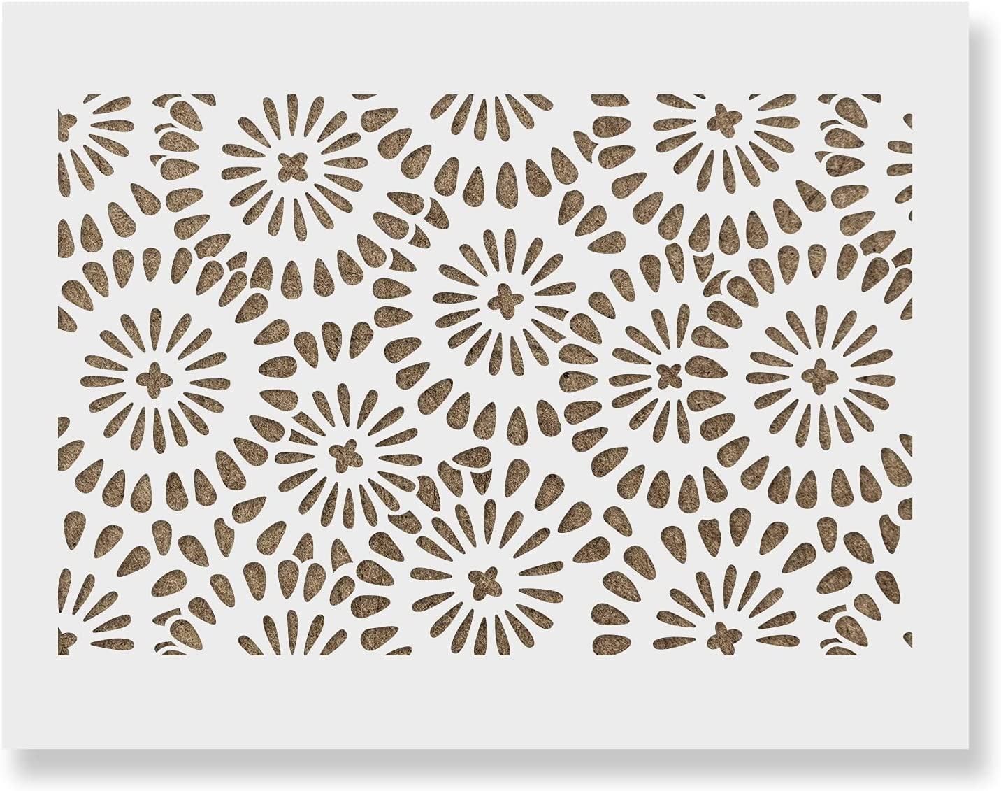 Chamomile Burst Pattern Wall San Jose Mall Stencil Manufacturer direct delivery - Home Le for Decorate Your