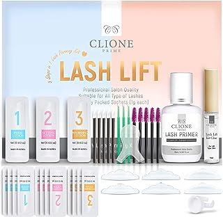 Clione Prime Lash Lift Kit - 38 Pcs Eyelash Lift Kit, 5 Times Use Eyelash Perm Kit, Suitable for Salon & Home Use - Profes...