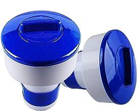 Poweka Dispensador Cloro Flotante,6.8 Inch Dispensador Químico de Cloro Flotante con Soporte de Tabletas para Piscina y SPA (2 Piezas)