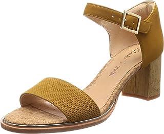 Clarks Women Ellis Lea Leather Fashion Sandals