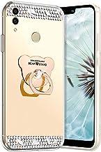 Robinsoni Hoesje Compatibel met Huawei Honor 8C Telefoonhoes Flexibel Case Sparkle Siliconen Case Clear Case Diamond Bling...