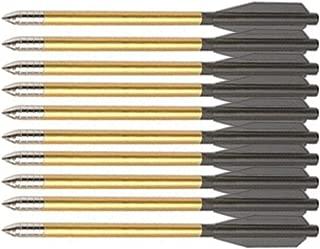 KingsArchery Crossbow Arrows Aluminum Bolt 6 inch Dart in Black and Gold for Hunting Crossbow Pistol Precision Target Arrow Archery