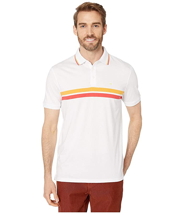 Calvin Klein The Liquid Touch Polo (White Combo) Men