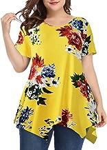 LARACE Women Casual T Shirt V-Neck Tunic Tops for Leggings - - 4X