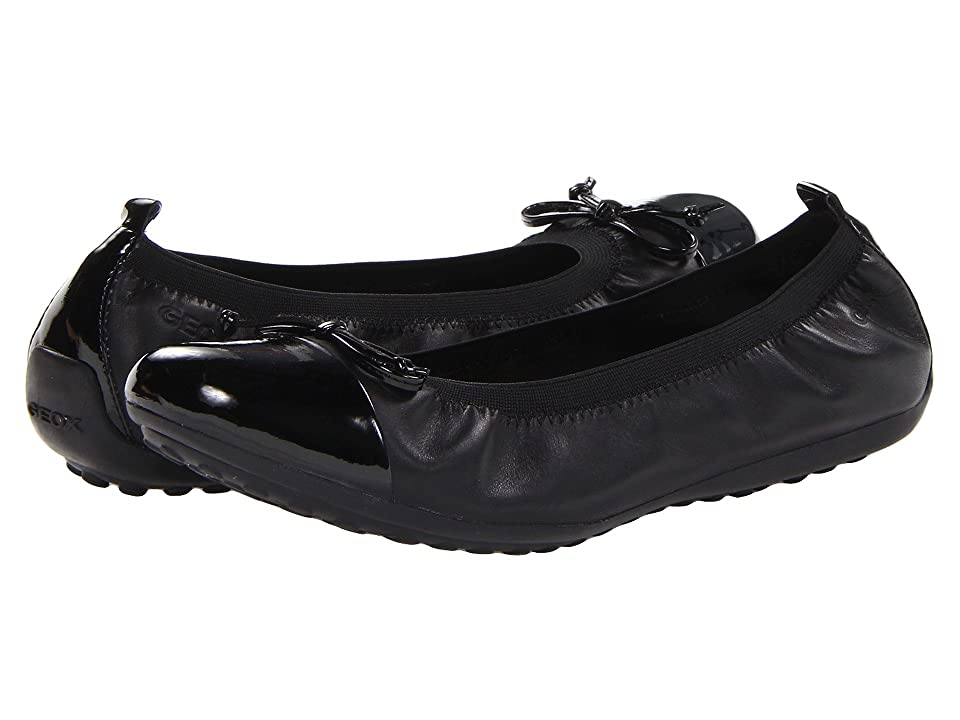 Geox Kids Jr Pima 22 (Big Kid 2) (Black) Girls Shoes