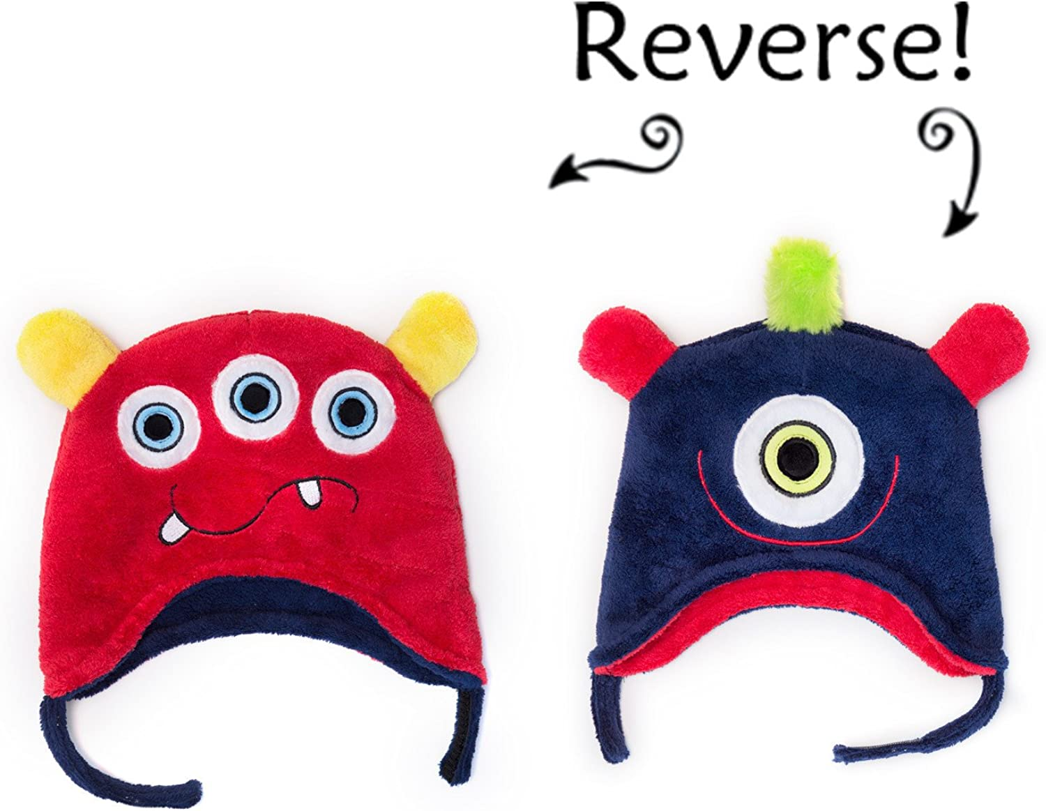 Luvali Winter Kids Converible Hat Winter Monsters Small