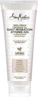 Sheamoisture Daily Hydration Styling Gel 100% Virgin Coconut Oil Hydrating, Alcohol-Free Hair Gel 8 oz
