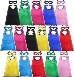 D.Q.Z Kids Superhero-Capes and Masks Bulk for Boys Girls, Children Birthday Halloween Dress Up Costumes Party Favors-16 Pack