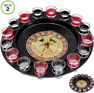 Evelots Drinking Shot Glass Roulette Game-Casino Style-16 Shot Glasses-Set/2