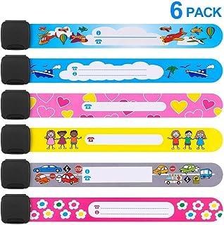 Safety Wristband, 6 PCS Colors Safety Armband Waterproof Safety ID Bracelet Reusable SOS Bracelet for Babies Children Boys Girls Old Man