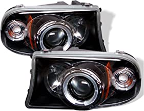 Spyder Auto Dodge Dakota/Durango Black Halogen Projector Headlight