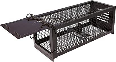 RatzFatz Mouse Trap Humane Live Cage, Catch and Release Mice, Rats, Chipmunks, Squirrels, Hamsters and Other Rodents, Sensitivity Adjustable, Pedal Design