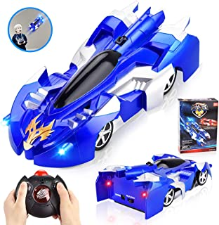INLAIER Remote Control Car Gravity Defying RC Car Race Car Toys for Floor and Wall or Glass, Rechargeable Fast RC Car 360°Rotating Stunt Wall Climbing Car RC Cars for Kids and Adults