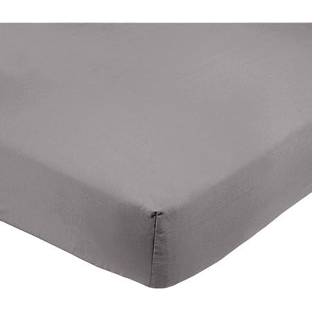 Amazon Basics Drap-housse en microfibre Gris foncé 100x200x30cm