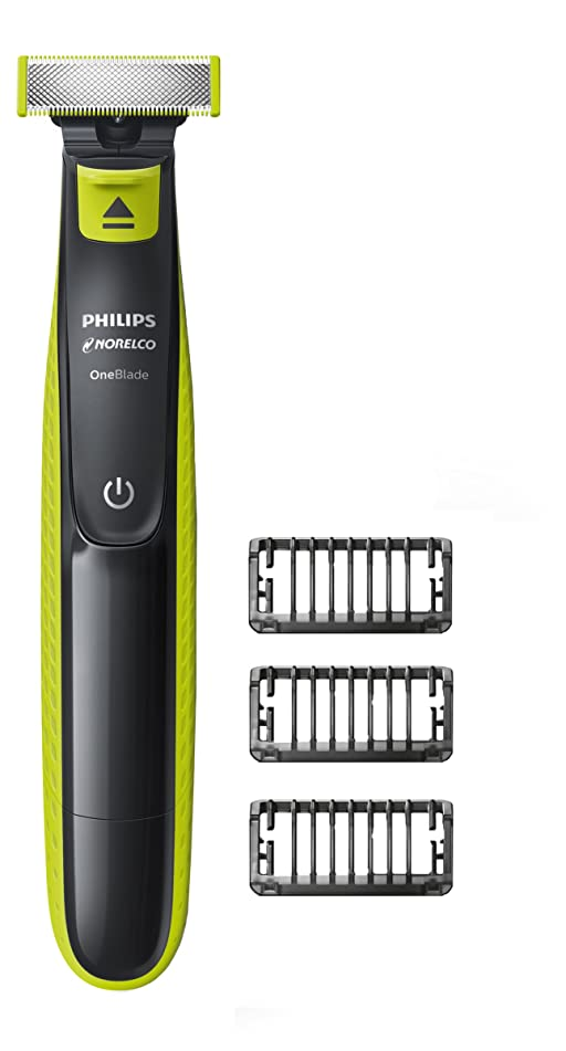 Philips Norelco OneBlade hybrid electric trimmer and shaver, FFP, QP2520/90