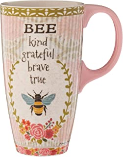 Lang Bee Kind Latte Mug by Suzanne Nicoll, Multicolored