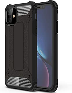 Armor Back Case for iPhone XR with Screen Protector Kit Free,2 in 1 Hybrid [Hard PC + Soft TPU] Dual Layer Heavy Protection Cover for iPhone XR Black