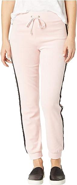 Track Velour Pearl Embellished Pants