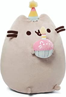 GUND Pusheen Snackables Birthday Cupcake Plush Stuffed Animal, Gray, 10.5