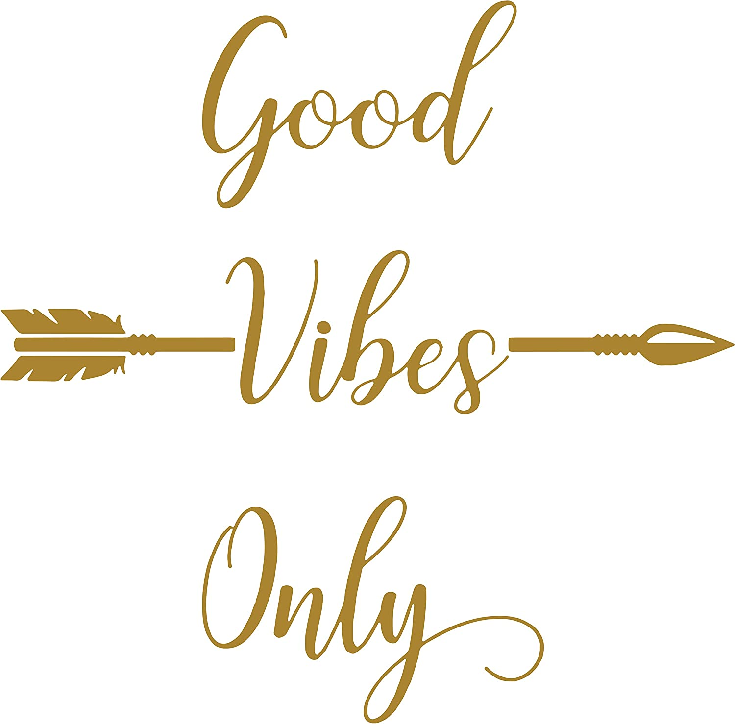 Good Vibes Only Quote Decal Colorful Laptop Decal Good Vibes Only Sticker