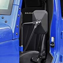 Voodonala Reflection Side Mirrors with Pillar Post Rectangular Brackets Rear View Mirror for 1996-2019 Jeep Wrangler CJ YJ TJ JK JL & Unlimited