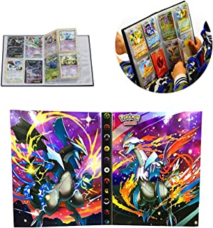 Card Holder Collection Handbook Trading Card Album for Pokemon Holds up to 160 Trading Cards (Pearl Cover)