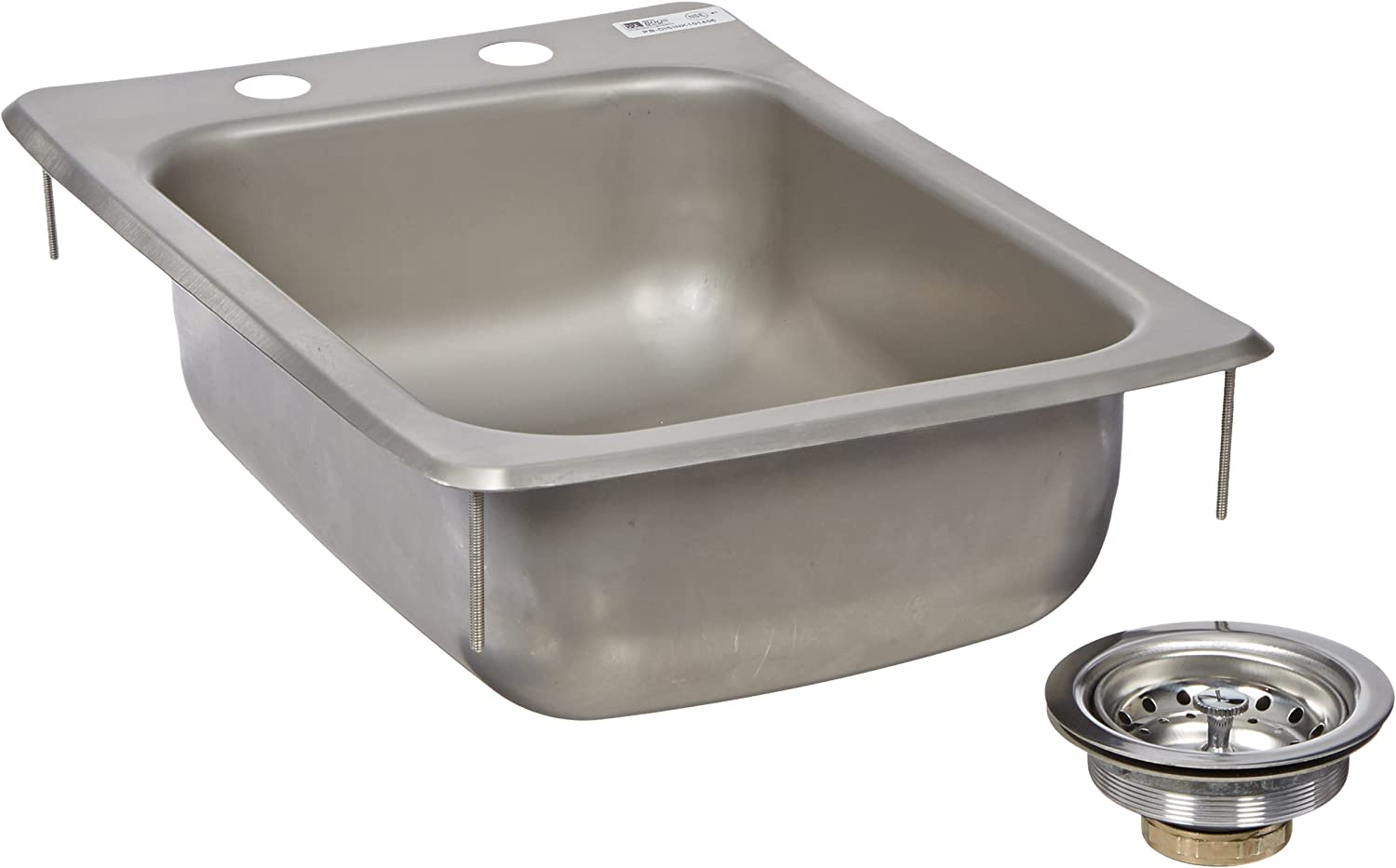 John Boos PB-DISINK101405 Deck Mount Pro-Bowl Drop-in Hand Sink, 14  Length x 10  Width x 5  Depth
